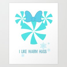 I like Warm Hugs Girl Art Print