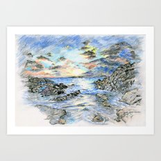 Beach landscape Art Print
