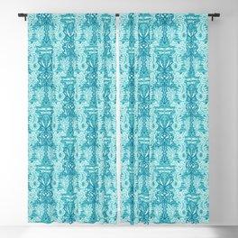 Sealife damask seahorse pattern. Blackout Curtain