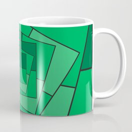 GREEN EMERALD SQUARES Abstract Art Coffee Mug