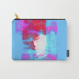 abstract blue pink Carry-All Pouch