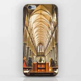 Salisbury Cathedral At Christmas Time iPhone Skin