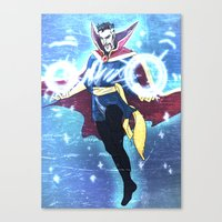 enerjax Canvas Prints featuring Doctor Strange by enerjax