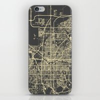 denver iPhone & iPod Skins featuring Denver map by Map Map Maps