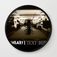 library Wall Clocks featuring Library by Phil Perkins