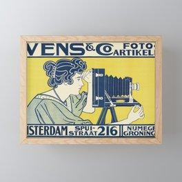 Vintage Camera Poster, 1899 Framed Mini Art Print