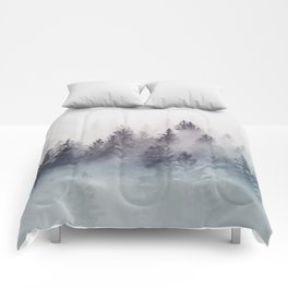 Winter Wonderland - Stormy weather Comforters