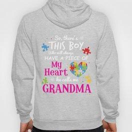 Autism Grandma Piece Of My Heart Awareness Shirt Hoody