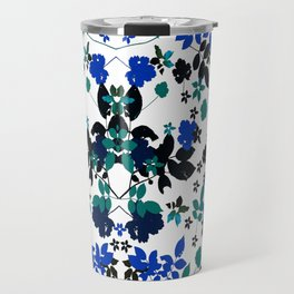 cobalt leaves Travel Mug