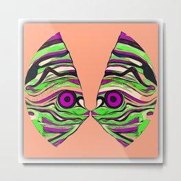 Tropical fish kiss Metal Print