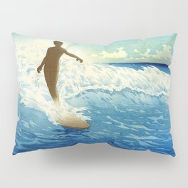 Hawaiian Surfer portrait painting by Charles W. Bartlett Pillow Sham