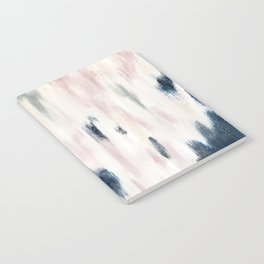 Blush Pink and Blue Pretty Abstract Notebook