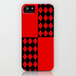 Chaotic Evil Harlequin iPhone Case
