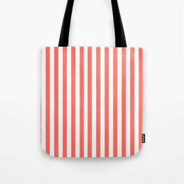 LIVING CORAL STRIPES PANTONE COLOR OF THE YEAR 2019 Tote Bag