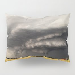 Ominous - Storm Looms Over Small Town In Oklahoma Pillow Sham