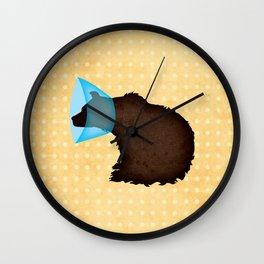 Cone of Shame Bear Wall Clock
