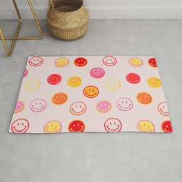 Smiling Faces Pattern Rug