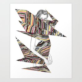 Origami Girl Art Print