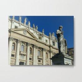 St. Peter's Basilica in Rome Metal Print