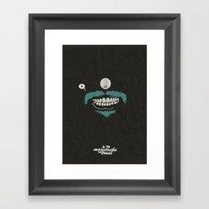 In moustache we trust #1 Framed Art Print