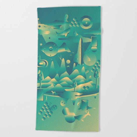 Geometromorphic Dream Beach Towel