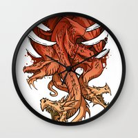 dragons Wall Clocks featuring Dragons by sandara