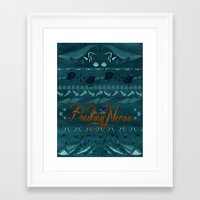 finding nemo Framed Art Prints featuring FINDING NEMO by SARA JABBARI