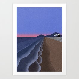 Coast in the evening Art Print