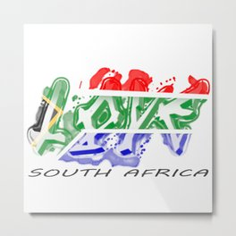 I LOVE SOUTH AFRICA Metal Print