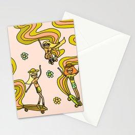 girl gang // dogtown and z girls // skateboard girl power by surfy birdy Stationery Cards