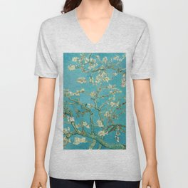 Van Gogh Almond Blossoms Painting Unisex V-Neck