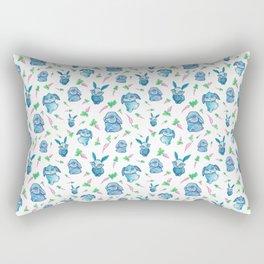 Blue Bunny Pattern Rectangular Pillow