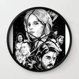 Rogue One: Full Cast Wall Clock