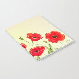 Watercolor poppies Notebook