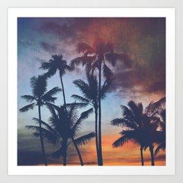 Waikiki Sunset Colors Art Print
