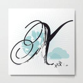 X like Xmas… Metal Print