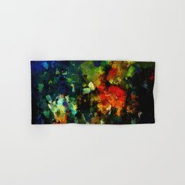 Dark Abstract Painting Hand & Bath Towel