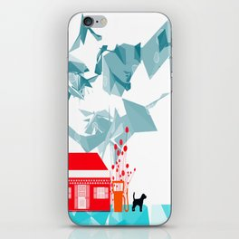 Gas station and the dog iPhone Skin