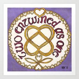 Celtic Love Knot Art Print