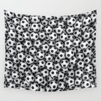soccer Wall Tapestries featuring Soccer Balls by FantasyArtDesigns
