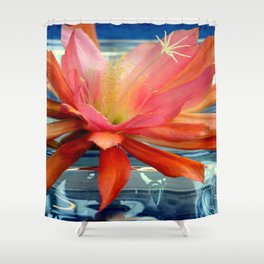 The Water Lily Cactus Shower Curtain
