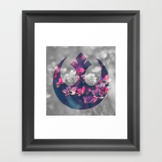 Floral Rebel Alliance Framed Art Print