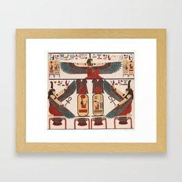 Ancient Egyptian pattern design Framed Art Print