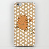 cookie iPhone & iPod Skins featuring Cookie by EnelBosqueEncantado