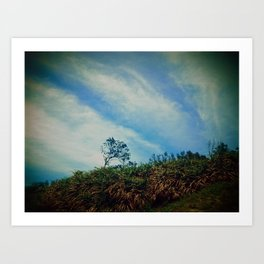 Tree,Cloud,Wind. Art Print