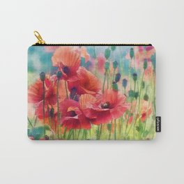 Poppy Parade Carry-All Pouch
