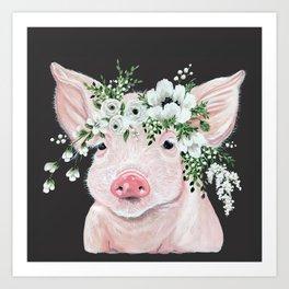 Poppy Piglet Art Print