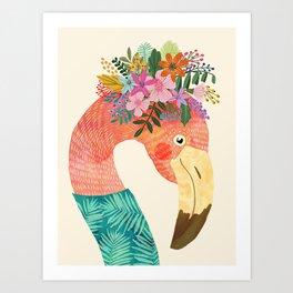 Pink Flamingo Wild Bird Art Print