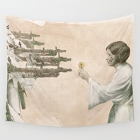 literary Wall Tapestries featuring Flowers for Alderaan by Eric Fan