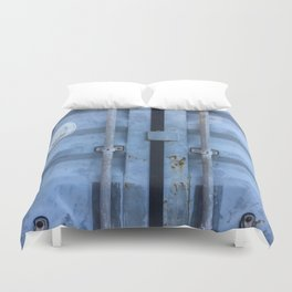 Shipping Container Doors Duvet Cover